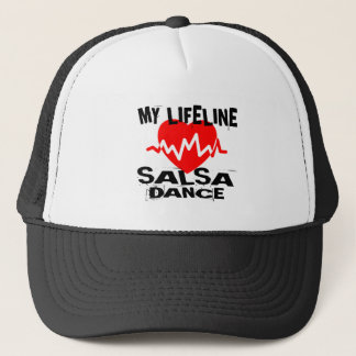 MY LIFE LINA SALSA DANCE DESIGNS TRUCKER HAT