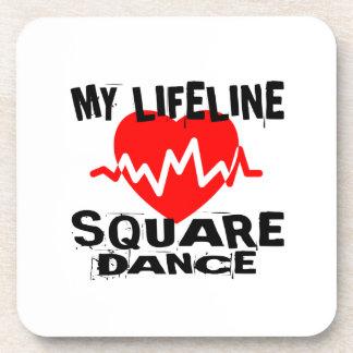 MY LIFE LINA SQUARE DANCE DANCE DESIGNS COASTER