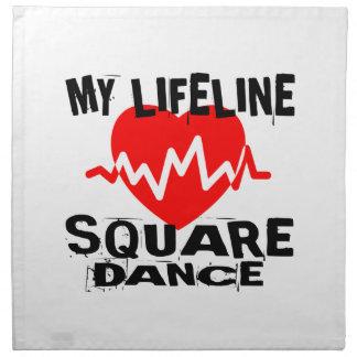 MY LIFE LINA SQUARE DANCE DANCE DESIGNS NAPKIN