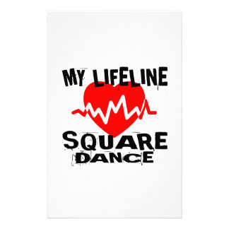 MY LIFE LINA SQUARE DANCE DANCE DESIGNS STATIONERY