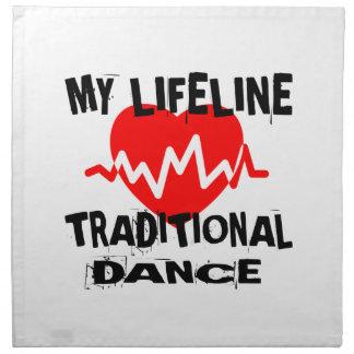 MY LIFE LINA TRADITIONAL DANCE DESIGNS NAPKIN