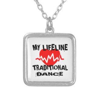 MY LIFE LINA TRADITIONAL DANCE DESIGNS SILVER PLATED NECKLACE