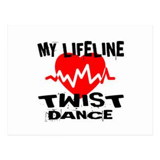 MY LIFE LINA TWISTDANCE DESIGNS POSTCARD