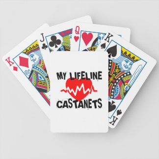 MY LIFE LINE CASTANETS MUSIC DESIGNS BICYCLE PLAYING CARDS