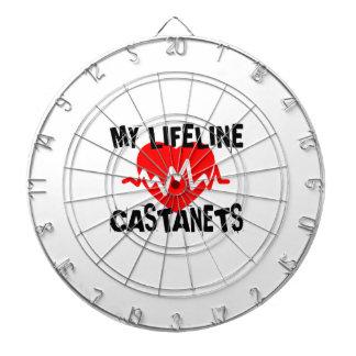MY LIFE LINE CASTANETS MUSIC DESIGNS DARTBOARD