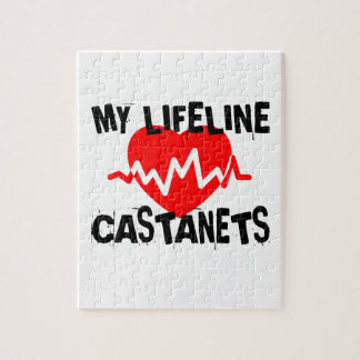 MY LIFE LINE CASTANETS MUSIC DESIGNS JIGSAW PUZZLE