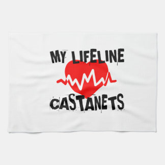 MY LIFE LINE CASTANETS MUSIC DESIGNS KITCHEN TOWEL