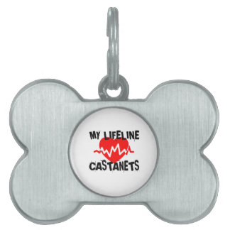 MY LIFE LINE CASTANETS MUSIC DESIGNS PET ID TAG