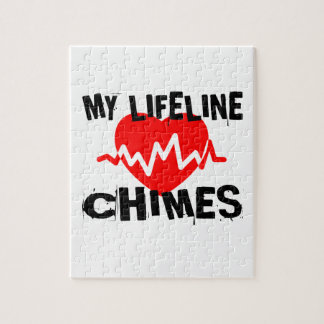MY LIFE LINE CHIMES MUSIC DESIGNS JIGSAW PUZZLE