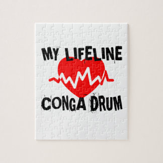 MY LIFE LINE CONGA DRUM MUSIC DESIGNS JIGSAW PUZZLE