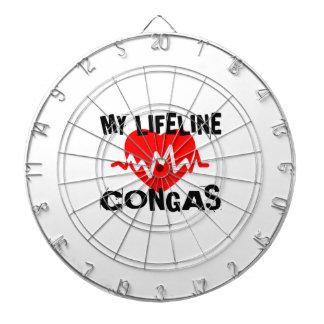 MY LIFE LINE CONGAS  MUSIC DESIGNS DARTBOARD