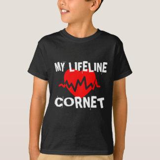 MY LIFE LINE CORNET MUSIC DESIGNS T-Shirt