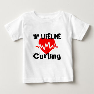 My Life Line Curling Sports Designs Baby T-Shirt