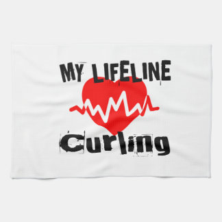 My Life Line Curling Sports Designs Kitchen Towel
