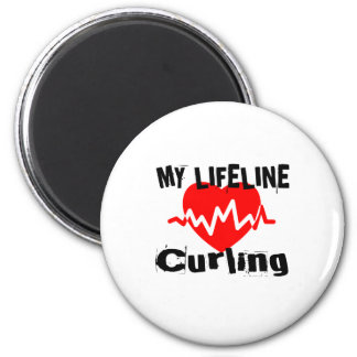 My Life Line Curling Sports Designs Magnet