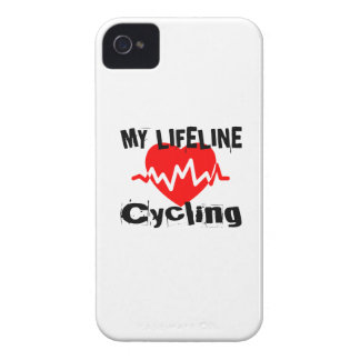 My Life Line Cycling Sports Designs Case-Mate iPhone 4 Cases