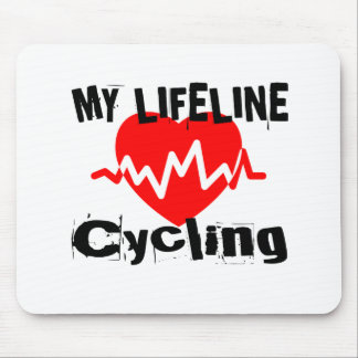 My Life Line Cycling Sports Designs Mouse Pad