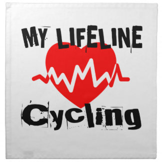 My Life Line Cycling Sports Designs Napkin