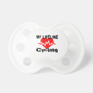 My Life Line Cycling Sports Designs Pacifier