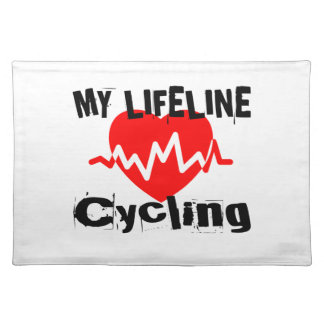 My Life Line Cycling Sports Designs Placemat