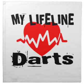 My Life Line Darts Sports Designs Napkin
