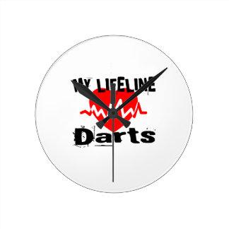 My Life Line Darts Sports Designs Round Clock