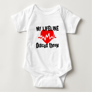 My Life Line Discus throw Sports Designs Baby Bodysuit