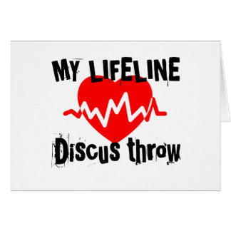 My Life Line Discus throw Sports Designs Card