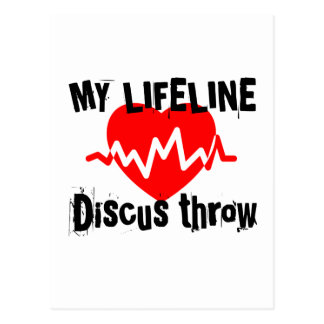 My Life Line Discus throw Sports Designs Postcard