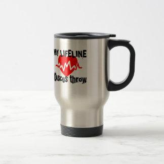 My Life Line Discus throw Sports Designs Travel Mug