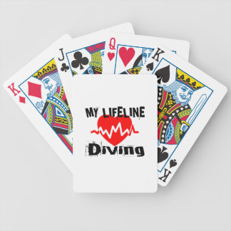 My Life Line Diving Sports Designs Bicycle Playing Cards