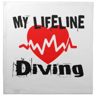 My Life Line Diving Sports Designs Napkin