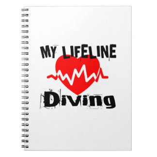 My Life Line Diving Sports Designs Notebook