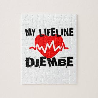 MY LIFE LINE DJEMBE MUSIC DESIGNS JIGSAW PUZZLE