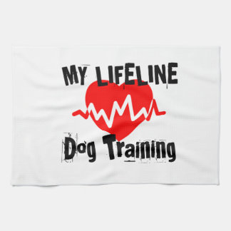 My Life Line Dog Training Sports Designs Kitchen Towel