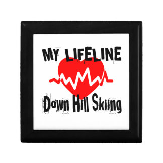 My Life Line Down Hill Skiing Sports Designs Gift Box
