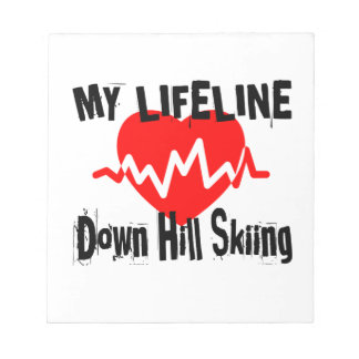 My Life Line Down Hill Skiing Sports Designs Notepad