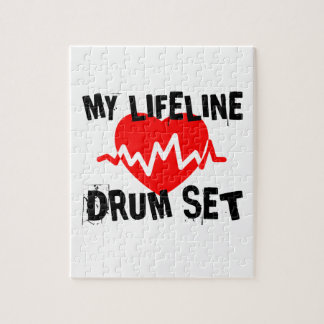 MY LIFE LINE DRUM SET MUSIC DESIGNS JIGSAW PUZZLE