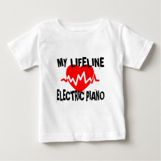 MY LIFE LINE ELECTRIC PIANO MUSIC DESIGNS BABY T-Shirt
