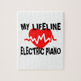 MY LIFE LINE ELECTRIC PIANO MUSIC DESIGNS JIGSAW PUZZLE