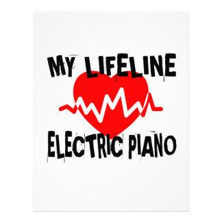 MY LIFE LINE ELECTRIC PIANO MUSIC DESIGNS LETTERHEAD