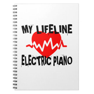 MY LIFE LINE ELECTRIC PIANO MUSIC DESIGNS NOTEBOOKS