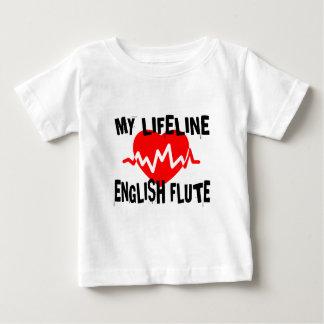 MY LIFE LINE ENGLISH FLUTE MUSIC DESIGNS BABY T-Shirt