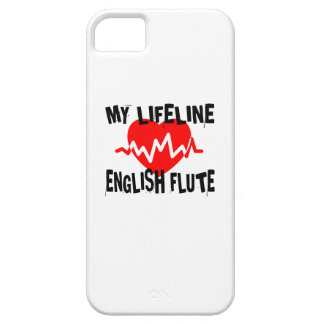 MY LIFE LINE ENGLISH FLUTE MUSIC DESIGNS iPhone 5 COVER
