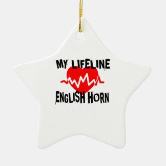 MY LIFE LINE ENGLISH HORN MUSIC DESIGNS CERAMIC ORNAMENT