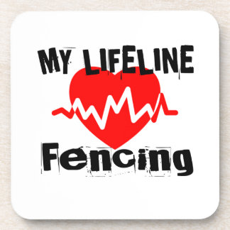 My Life Line Fencing Sports Designs Coaster