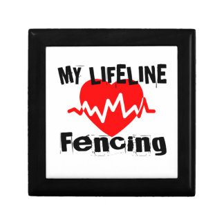 My Life Line Fencing Sports Designs Gift Box