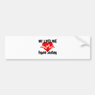 My Life Line Figure Skating Sports Designs Bumper Sticker