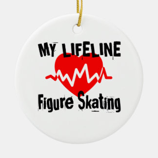 My Life Line Figure Skating Sports Designs Ceramic Ornament