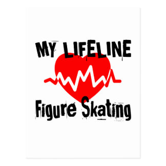 My Life Line Figure Skating Sports Designs Postcard